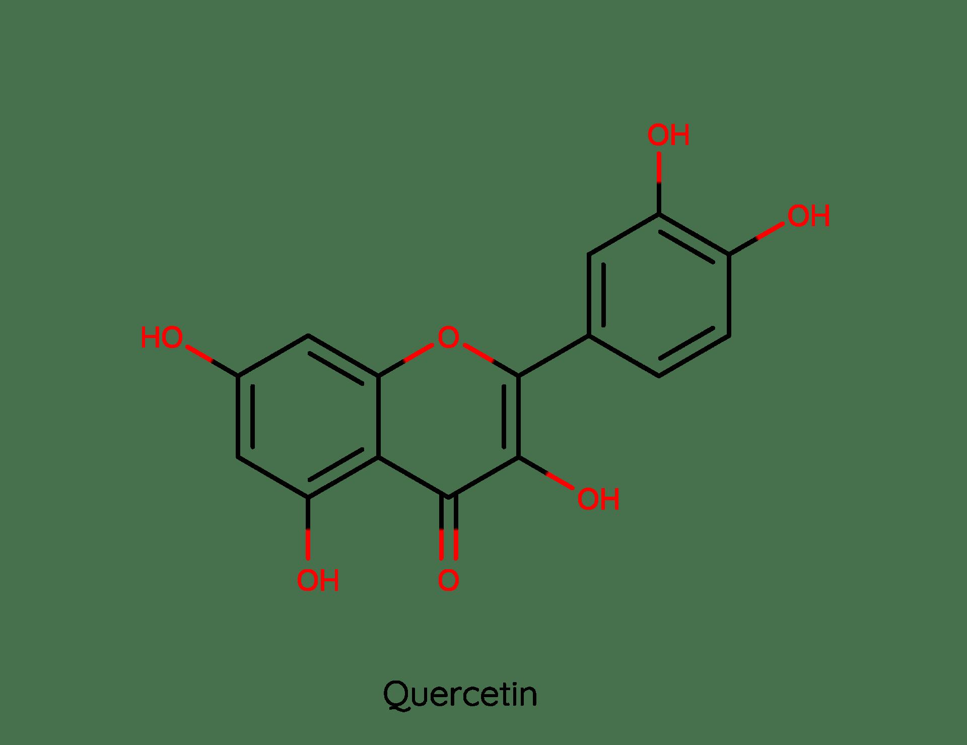 Molekül des sekundären Pflanzenstoffs Quercetin