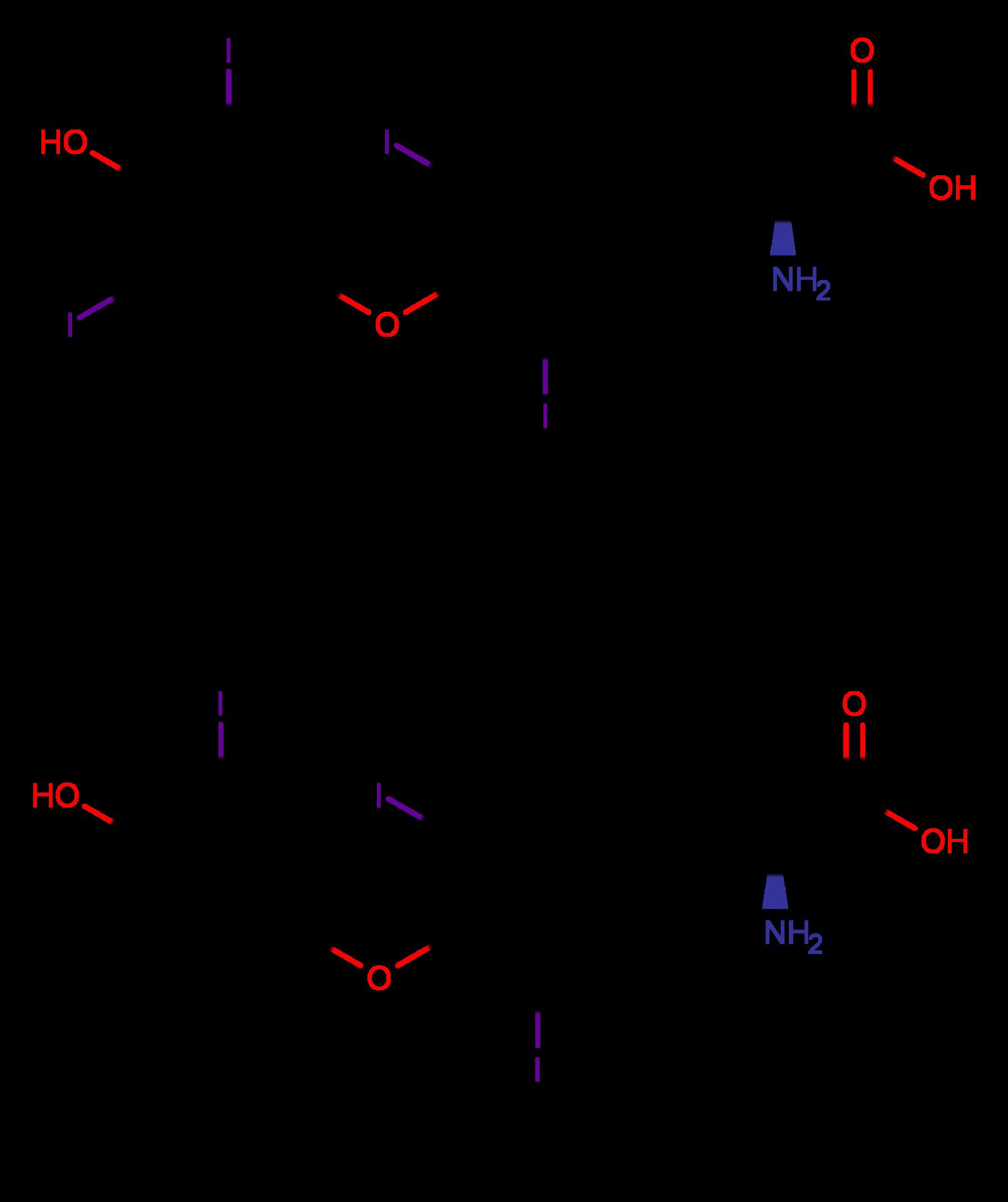 Umwandlung von Tetraiodthyronin (T4) in Triiodthyronin (T3) über die Deiodinasen DIO1 und DIO2